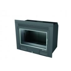 Insert INT68/R | Insert Anthracite | Encadrement Vitre de Porte ANTHRACITE | Puissance de 10 kw | Double Combustion | Façade Classique