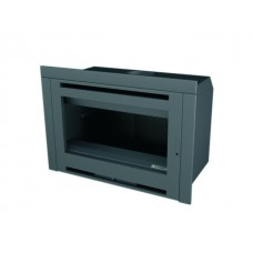 Insert INT107/R | Insert Anthracite | Façade Porte INOX | Puissance de 8.7 kw | Double Combustion | Façade Moderne