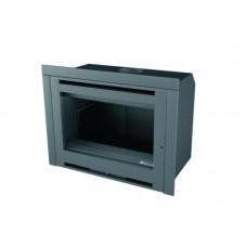 Insert INT108/R | Insert Anthracite | Façade Porte INOX | Puissance de 10 kw | Double Combustion | Façade Moderne