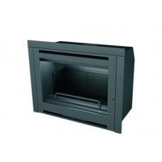 Insert INT102/R | Insert Anthracite | Façade Porte INOX | Puissance de 10.5 kw | Double Combustion | Façade Moderne