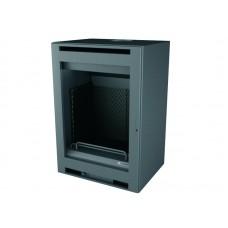Insert INT110/R | Insert Anthracite | Façade Porte INOX | Puissance de 7.5 kw | Double Combustion | Façade Moderne
