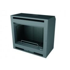 Insert INT169/R | Insert Anthracite | Façade Porte INOX | Puissance de 10 kw | Double Combustion | Façade Moderne
