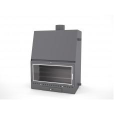 Insert Chaudière MO900   Encadrement Vitre de Porte INOX   puissance 27.5Kw   rendement 77%