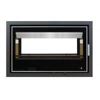 Insert Black Serie Double Face Modèle Lisboa-900Df Porte Battante Avec Puissance De 14Kw Marque Termofoc Avec Ventilation 2 Vitesses